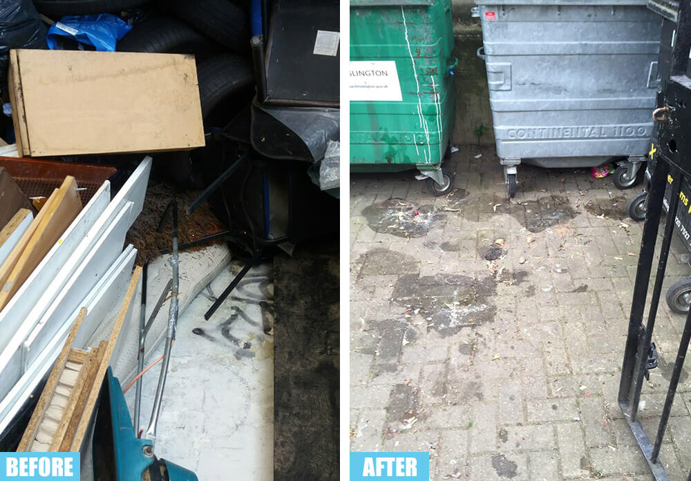 Belsize Park rubbish collector NW3
