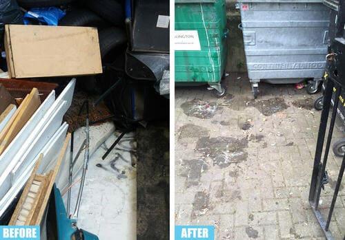 Aldgate rubbish collector EC3