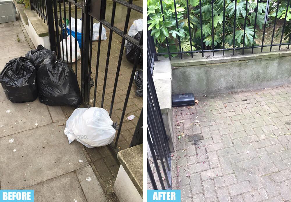 Kensington rubbish collector SW7