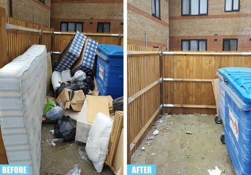 Leamouth rubbish collector E14