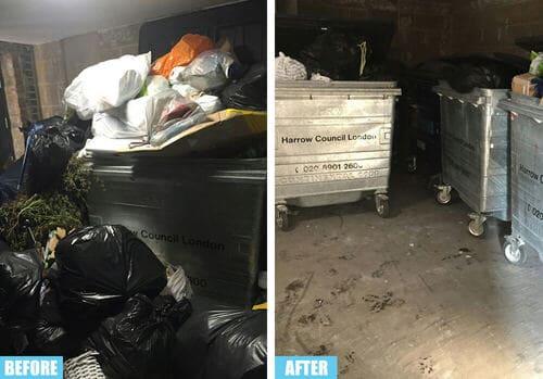 Farringdon rubbish collector EC1