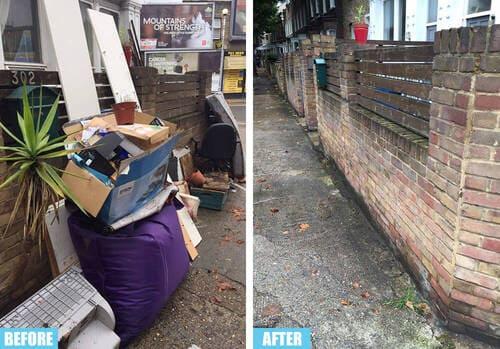 Mile End rubbish collector E1