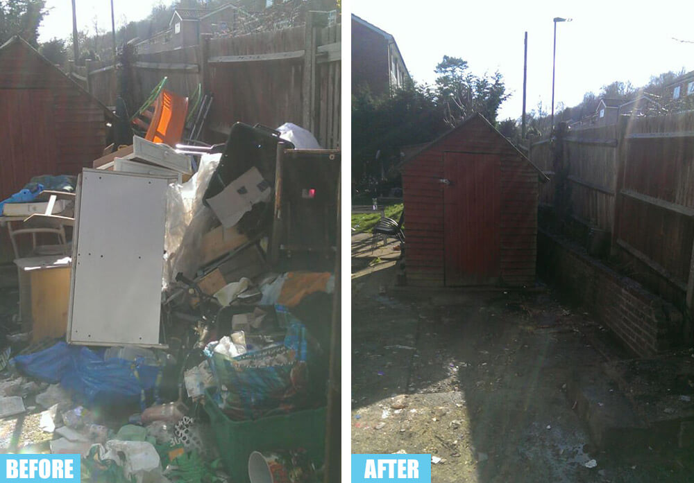 Banstead removing junk SM7