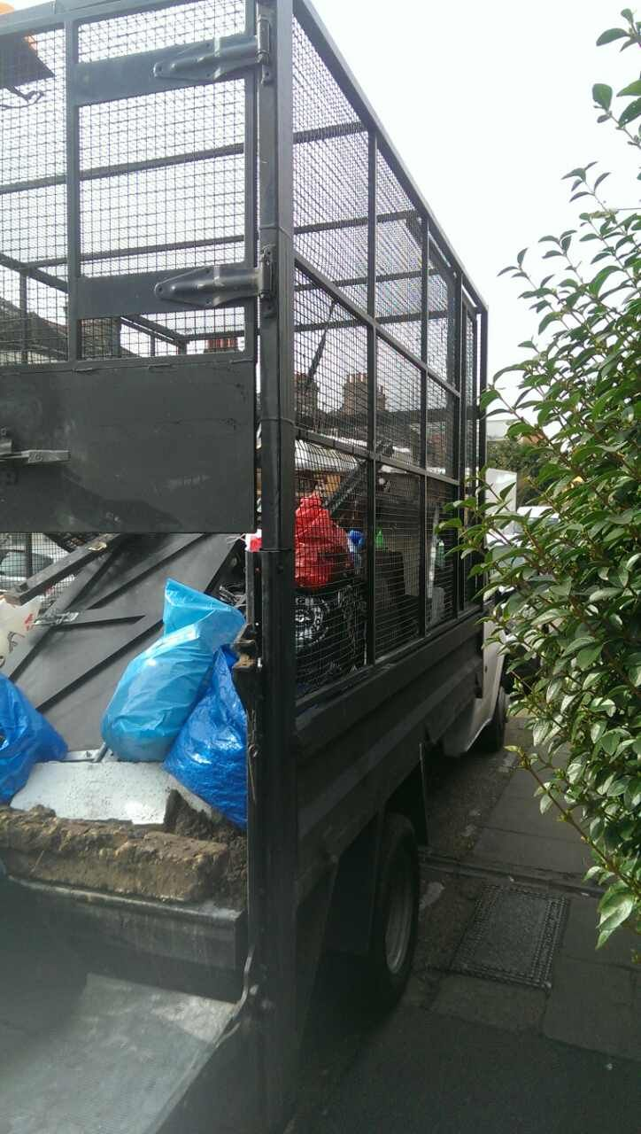 Neasden disposing waste NW2
